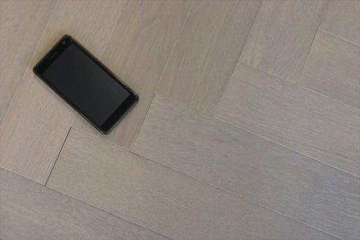 Prime Engineered Flooring Oak Herringbone White Grey Brushed UV Oiled 14/3mm By 98mm By 590mm