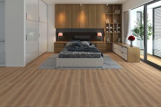 Tirol Oak Light Beige Laminate Flooring 8mm By 195mm By 1380mm