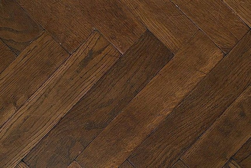 Prime Engineered Oak Herringbone Coffee Brushed UV Oiled 15/4mm By 90mm By 900mm