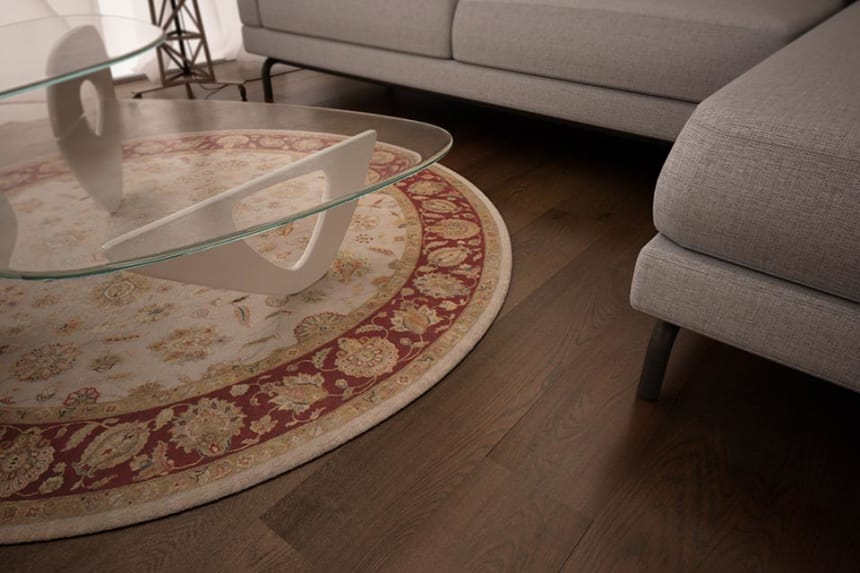 Natural Engineered Oak Coffee Brushed UV Oiled 14/3mm By 180mm By 400-1500mm