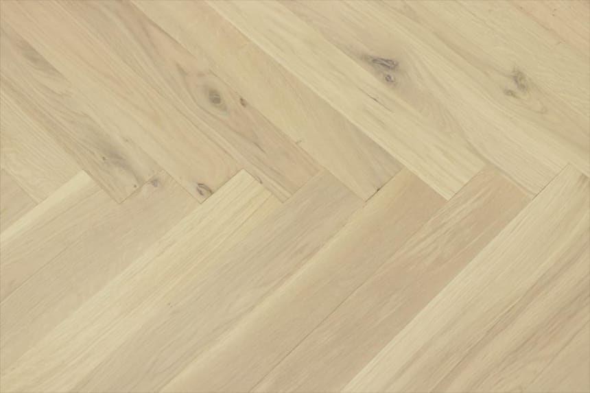Natural Engineered Flooring Oak Herringbone Non Visible UV Oiled No Bevel 11/3.6mm By 70mm By 490mm
