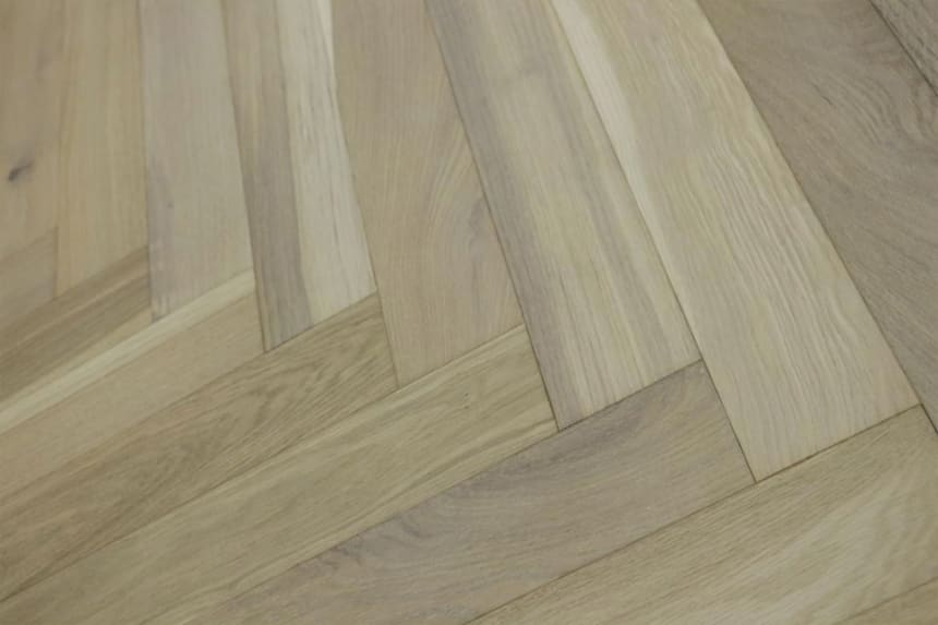 Natural Engineered Flooring Oak Herringbone Smoked Grey Brushed UV Oiled 15/4mm By 90mm By 600mm