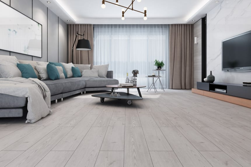 Luxury Click Vinyl Rigid Core Flooring Fossil 4.2mm By 180mm By 1220mm