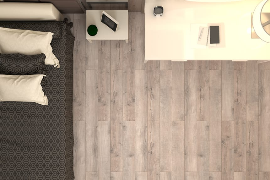 Matisse White Grey Oak Laminate Flooring 12mm By 159mm By 1380mm