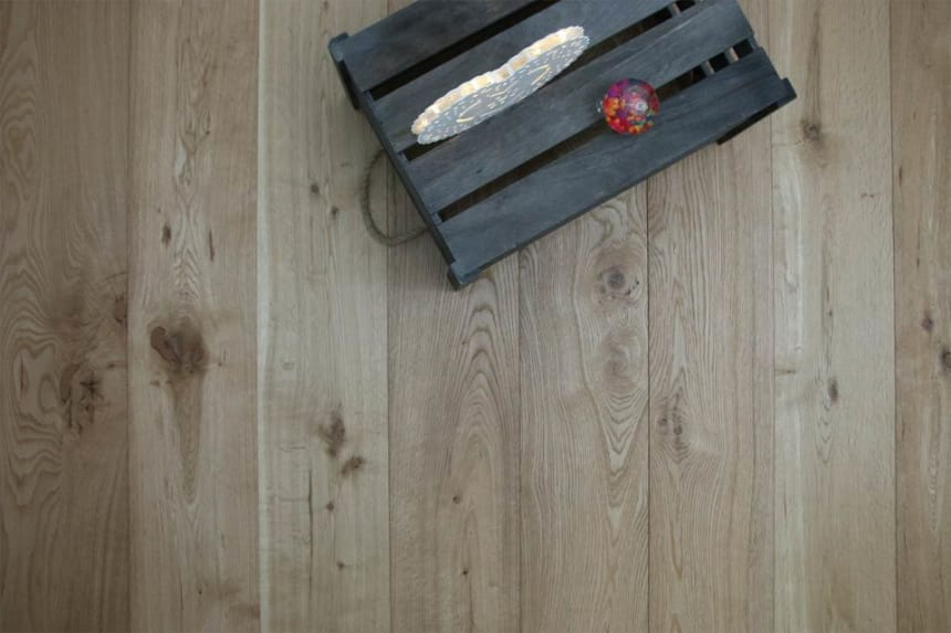 Natural Engineered Flooring Oak Brushed UV Oiled 15/4mm By 250mm By 1800-2200mm