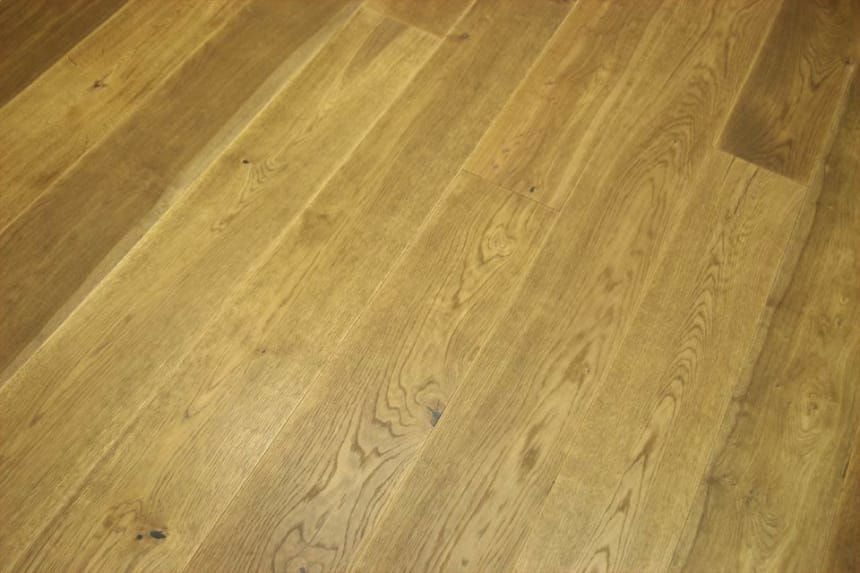 Natural Engineered Flooring Oak Click Light Smoked Brushed UV Oiled 14/3mm By 190mm By 1860mm