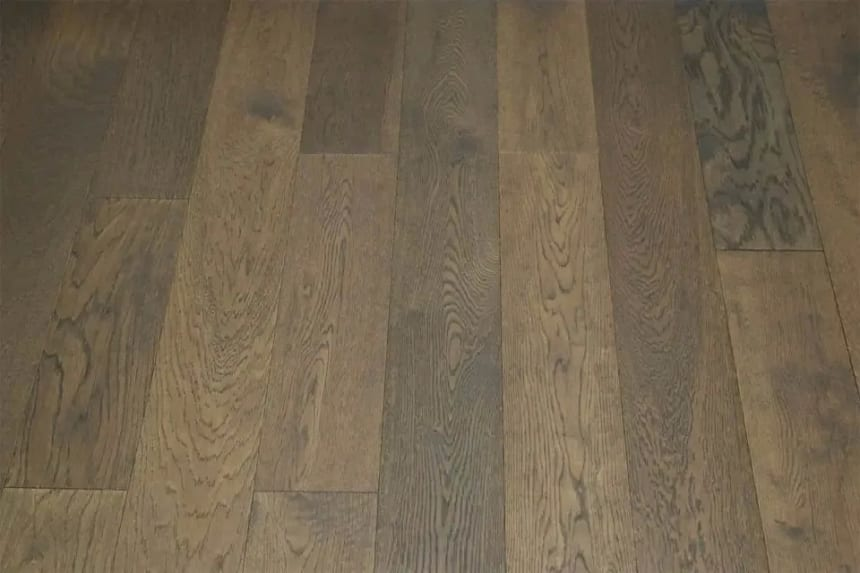 Natural Engineered Flooring Oak Coffee Brushed UV Lacquered 10/3mm By 150mm By 1200mm