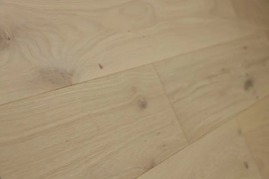 Natural Engineered Flooring Oak Non Visible Brushed UV Oiled 14/3mm By 150mm By 400-1500mm