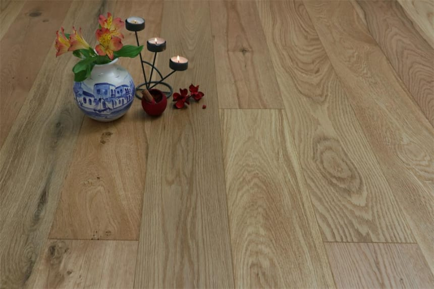 Natural Engineered Oak Brushed UV Oiled 14/3mm By 190mm By 400-1500mm