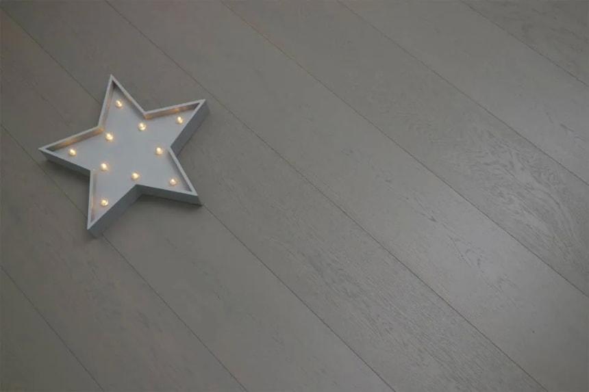 Natural Engineered Oak Summer Grey UV Oiled 14/3mm By 190mm By 400-1500mm