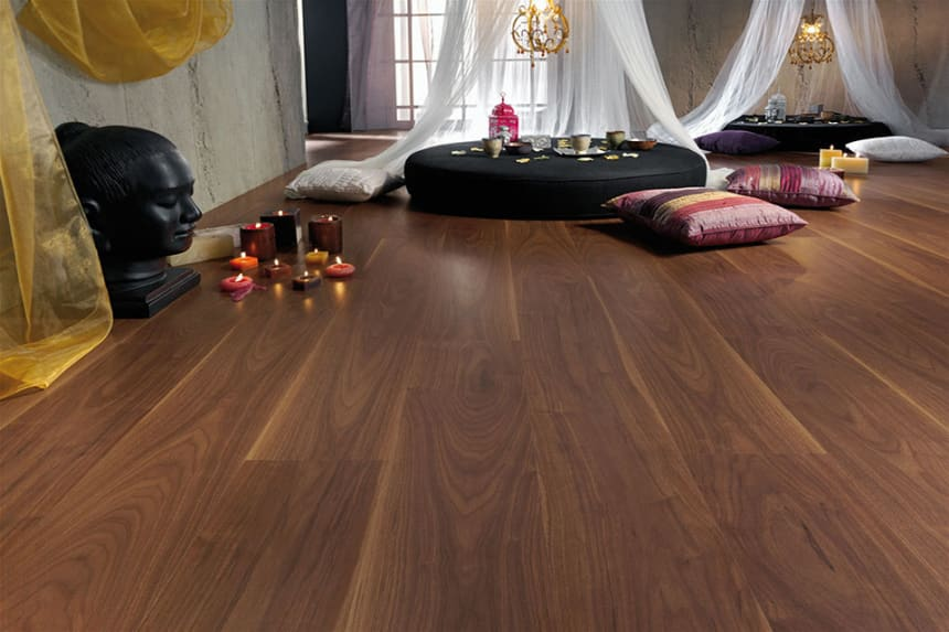 Siddhartha Dark Brown Oak  Laminate Flooring 8mm By 189mm By 1200mm