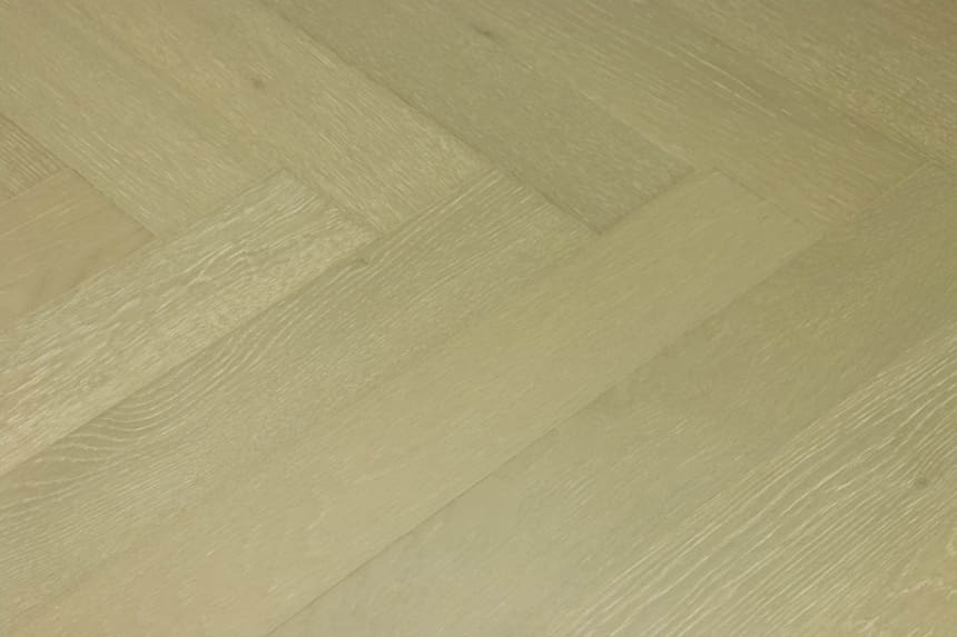 Prime Engineered Flooring Oak Herringbone Barcelona Brushed UV Matt Lacquered 14/3mm By 98mm By 588mm