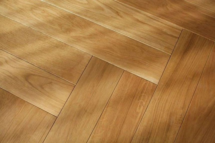 Prime Engineered Flooring Oak Herringbone Brushed Matt UV Lacquered 14/3mm By 97mm By 790mm