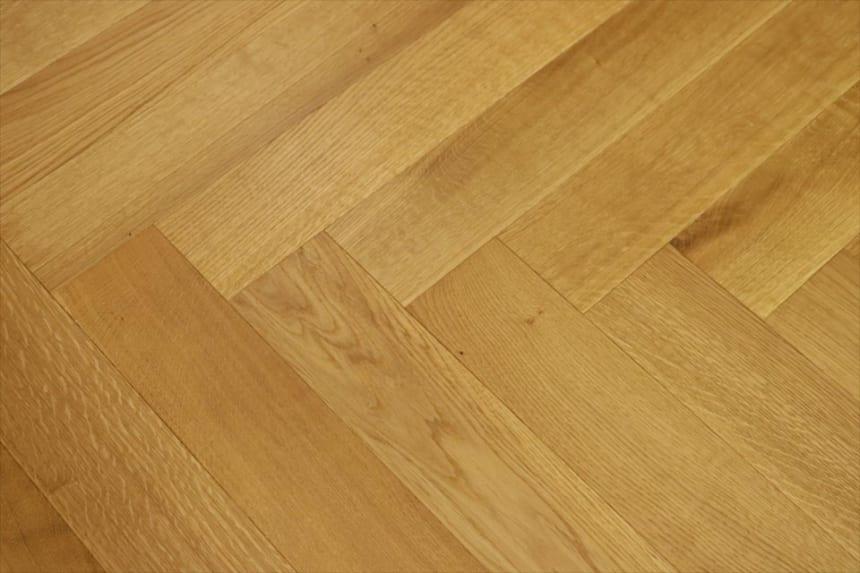 Prime Engineered Flooring Oak Herringbone Brushed UV Oiled 14/3mm By 98mm By 588mm
