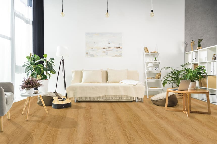 Luxury Click Vinyl Flooring Oak Lacquered 5mm By 169mm By 1210mm