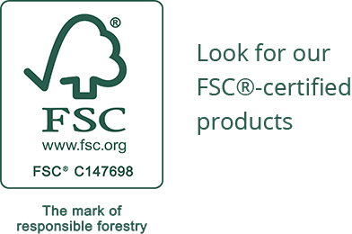 Look for our FSC®-certified products. FSC® C147698