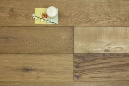Select Engineered Oak Oiled Single Smoked 14/3mm By 190mm By 1860mm