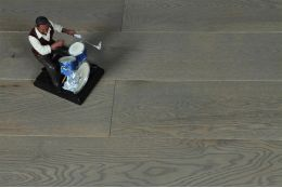 Natural Engineered Oak Click Sahara Grey Brushed UV Lacquered 14/3mm By 150mm By 400-1500mm
