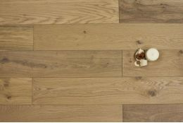 Select Engineered Oak Brushed Unfinished 20/6mm By 242mm By 2000-2350mm
