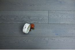 Natural Engineered Oak Metal Grey Brushed UV Lacquered 14/2.5mm By 189mm By 1860mm