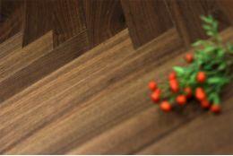 Prime Engineered Flooring Walnut Herringbone UV Lacquered 15/4mm By 90mm By 600mm
