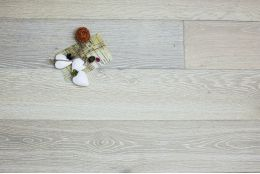 Select Engineered Oak Brushed White UV Oiled 14/3mm By 190mm By 1900mm