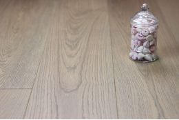 Select Engineered Oak Flooring Spring Grey Wax Oiled 15/4mm By 190mm By 1900mm