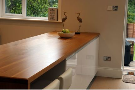 Full Stave Premium Oak Worktop 25mm By 620mm By 2500mm
