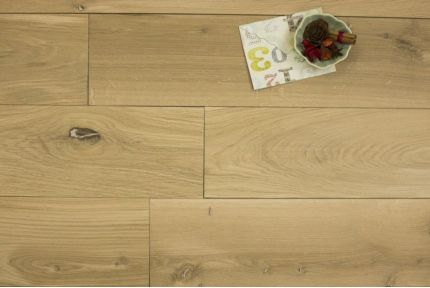 Natural Engineered Oak Brushed Unfinished 20/6mm By 242mm By 2350mm