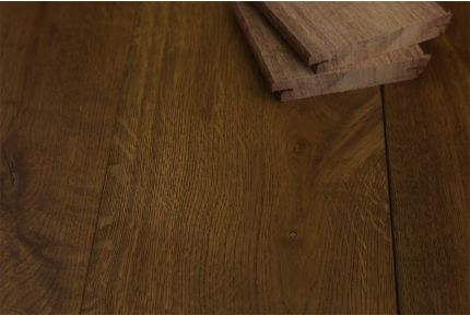 Natural Engineered Oak Click Smoked Brushed UV Oiled 14/3mm By 190mm By 400-1500mm
