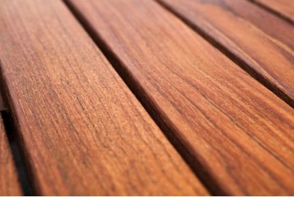 Teak Hardwood Decking Boards Using Hidden Fixing 20mm By 120mm By 2200-2300mm