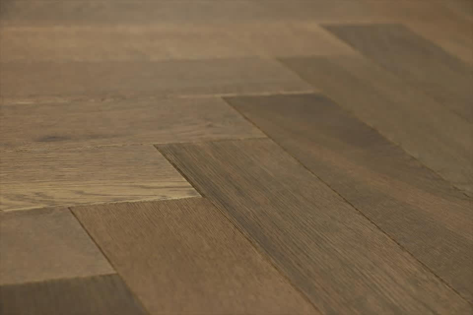 Natural Engineered Flooring Oak Herringbone Smoked