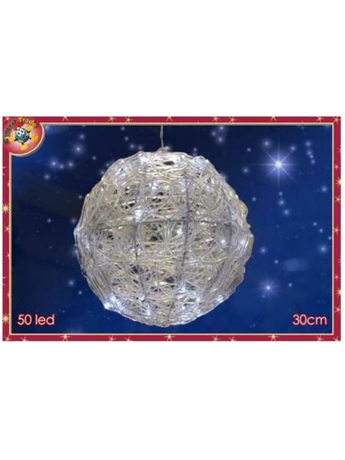 General Trade SFERA / PALLA LUMINOSA 50 LED BIANCHI LUCE FREDDA - Cm.30