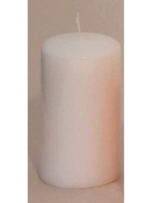 Candela moccolo colore bianco Cm. 6 x 10 h