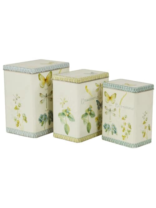 Lorenzongift scatole rettangolare butterfly in latta
