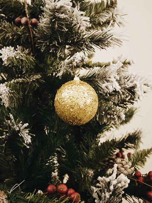 Pallina di Natale in vetro con pizzo - Christmas Decorations