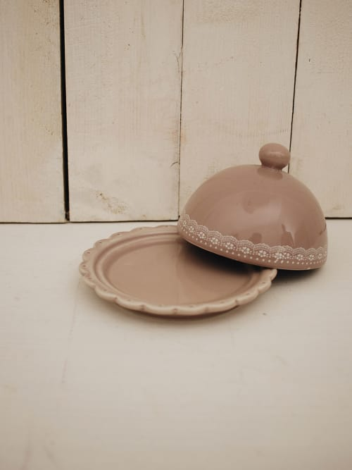Piattino con cupola rosa
