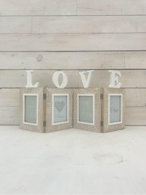 Portafoto a quattro con la scritta Love - Lorenzongift