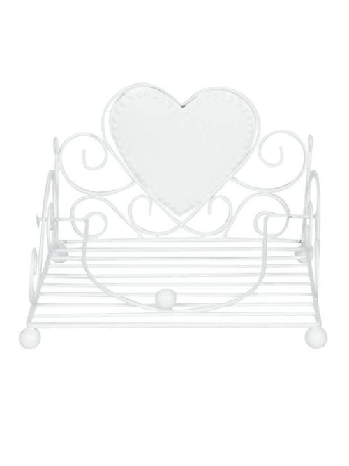 Portatovaglioli in ferro bianco - Angelica Home & Country