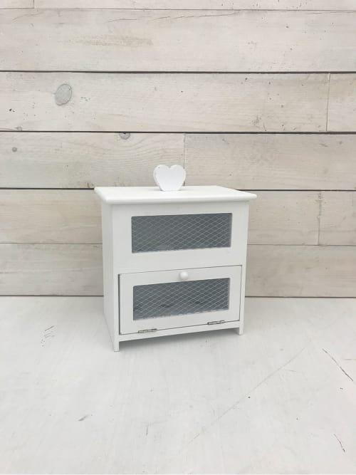 Portauova shabby bianco - Lorenzongift