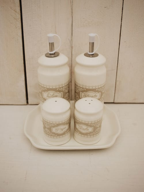 Set olio, aceto, sale e pepe - Angelica home & country