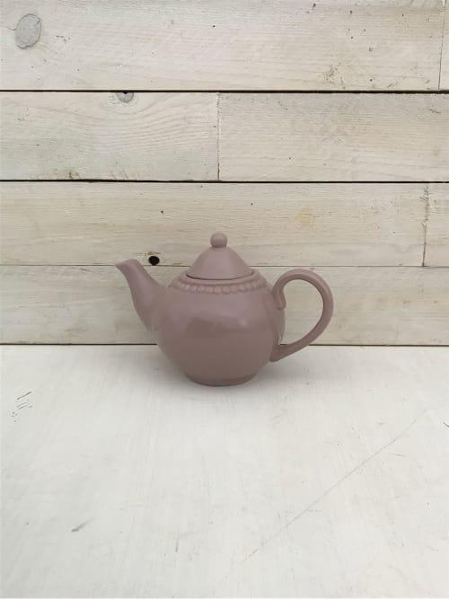 Teiera rosa in ceramica - Lorenzongift