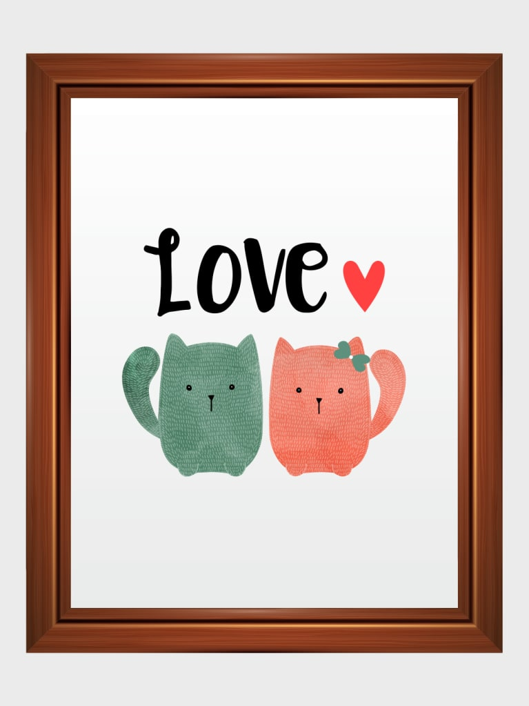 Cuteee-Pie Love Art Frame