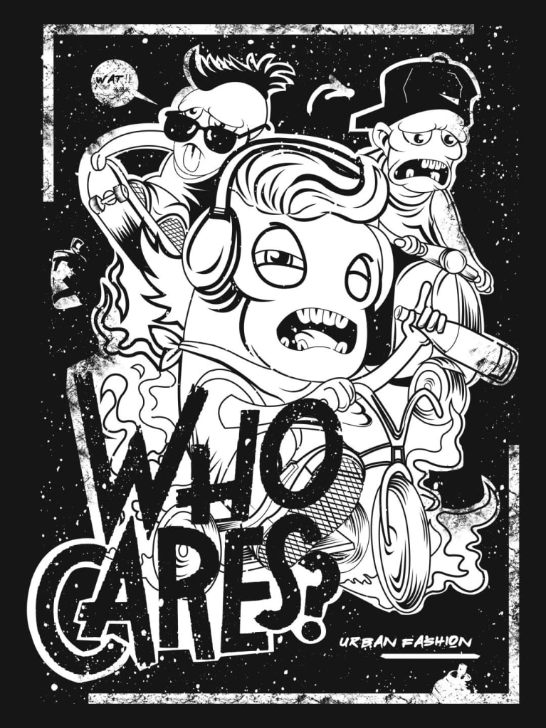 Who Cares Graphic T Shirt