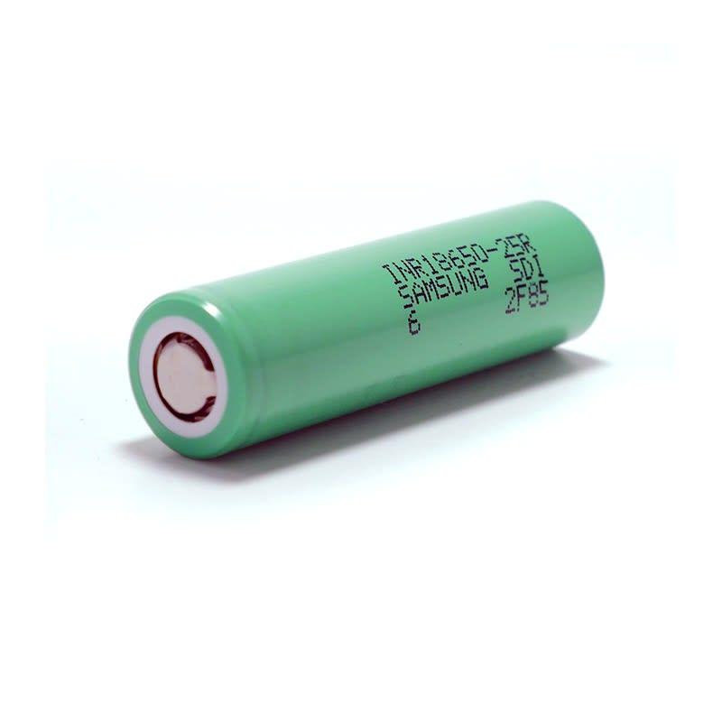 Samsung INR 18650 - 2500 mAh Hybrid Battery - Flat Top