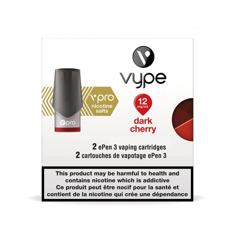 Vype ePen 3 vPro Dark Cherry Cartridges 2pk
