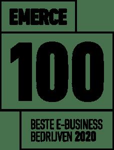 Emerce 100 award badge