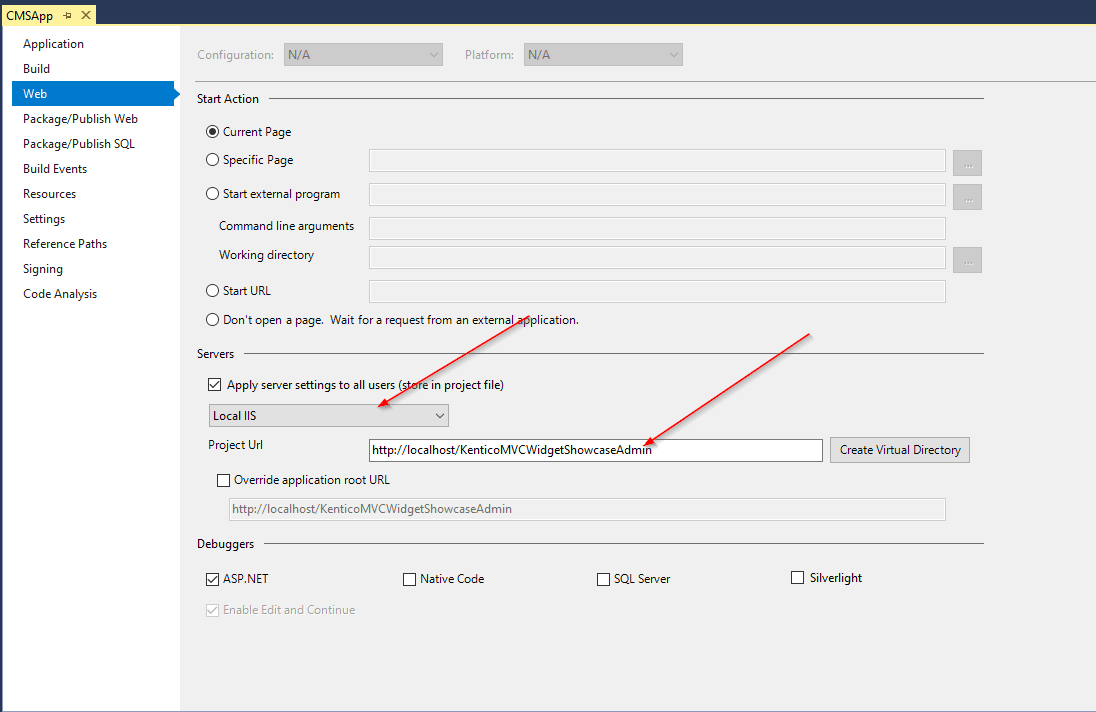 IIS Admin Settings