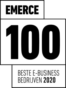Emerce 100 award badge