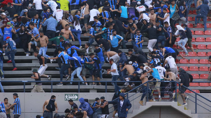 Mexican soccer game abandoned after fans erupt into violence